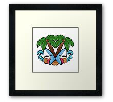 Left and right are in da house! -white- Framed Print