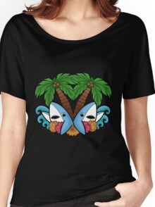 Left and right are in da house! -black- Women's Relaxed Fit T-Shirt