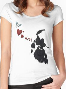 Bubblelove Women's Fitted Scoop T-Shirt