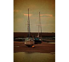 Two Sail Boats Photographic Print
