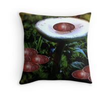 Autumn Olives On a Mushroom  *featured Throw Pillow