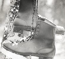 Vintage ice skates by Jacqueline Moore
