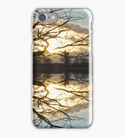Sunset Tree Symmetry iPhone Case/Skin