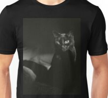 Film noir portrait of black cat Hasselblad square medium format film analogue photograph handmade darkroom print Unisex T-Shirt