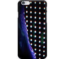 Futuristic shop dummy mannequin at night in led light effect analogue film photograph iPhone Case/Skin
