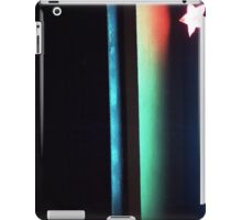 Abstract dark photo of star and lines on blackness silver gelatin color 35mm negative analog film photo  iPad Case/Skin