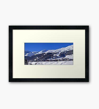 Panorama of Livigno  Framed Print