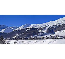 Panorama of Livigno  Photographic Print