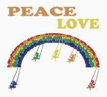 peace love children rainbow One Piece - Long Sleeve