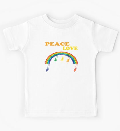 peace love children rainbow Kids Tee
