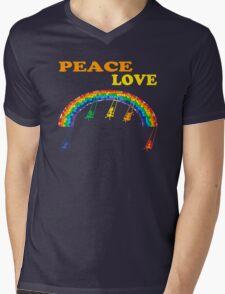 peace love children rainbow Mens V-Neck T-Shirt