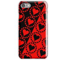 Red heart Black heart-2 iPhone Case/Skin