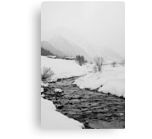 A snowy day Canvas Print