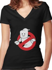 Lego Ghostbusters Women's Fitted V-Neck T-Shirt