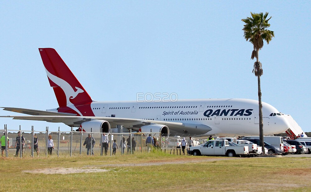 Qantas A380 At Perth Airport  by EOS20