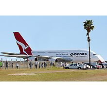 Qantas A380 At Perth Airport  Photographic Print