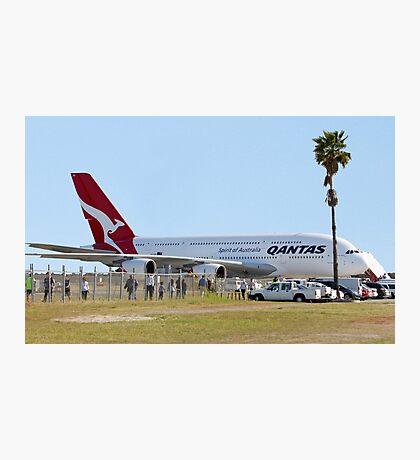 Qantas A380 At Perth Airport  Photographic Print