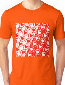 Red heart White heart Unisex T-Shirt