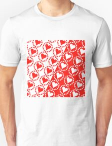 Red heart White heart T-Shirt