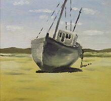 Beached in Bunbeg by Alan Hogan