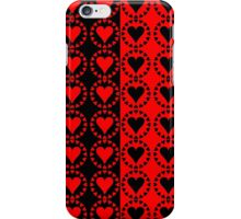 Red heart Black heart iPhone Case/Skin