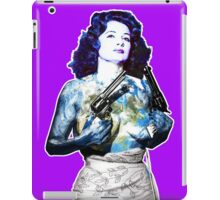 """Title: """"Keep Moving"""" Queen Of Burlesque, Sexy Earth Girl with Guns iPad Case/Skin"""