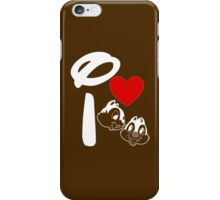 I Heart Chip 'n' Dale (Inverted) iPhone Case/Skin