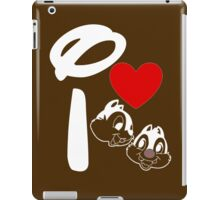 I Heart Chip 'n' Dale (Inverted) iPad Case/Skin