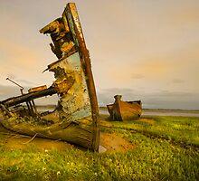 Old Fishing Boats Wrecks 3 by eddiej