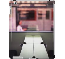 Train table and station Hasselblad medium format 120 square 6x6 negative c41 color analogue photograph iPad Case/Skin