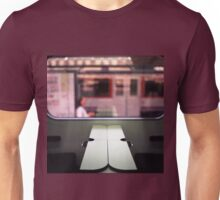 Train table and station Hasselblad medium format 120 square 6x6 negative c41 color analogue photograph Unisex T-Shirt