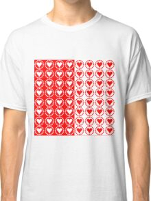 Red heart White heart-2 Classic T-Shirt