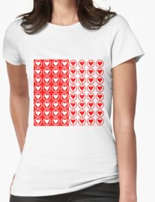 Red heart White heart-2 Womens Fitted T-Shirt