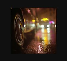 Cars in urban street on rainy night hasselblad medium format analog film photograph Unisex T-Shirt