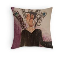 An imposing woman Throw Pillow