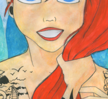 Tattooed Ariel  Sticker