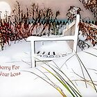 "A Throne of White ""Sorry For Your Loss"" ~ Sympathy Card by Susan Werby"