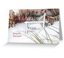 "A Throne of White ""Sorry For Your Loss"" ~ Sympathy Card Greeting Card"
