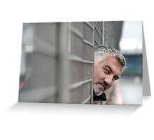 Paul Hollywood testing with Aston Martin Greeting Card