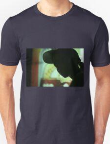 Rap hip hop singer  in bar nightclub in silhouette photograph T-Shirt