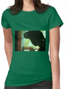 Rap hip hop singer  in bar nightclub in silhouette photograph Womens Fitted T-Shirt