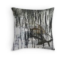 Muddy Mangroves Throw Pillow
