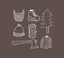 Lumberjack Things T-shirt (White on dark color) Unisex T-Shirt