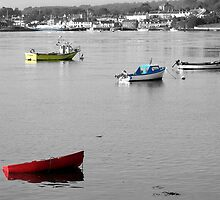 Boats in Strangford Lough by Nobby