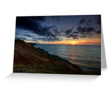 Cap Le Moine Sunset Greeting Card