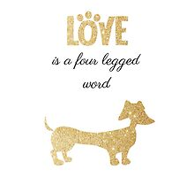 Love is a four legged word (dog gold) by LaurasLovelies