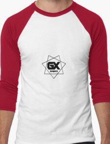 GiMMiX Logo/Vector (Black on White) Men's Baseball ¾ T-Shirt
