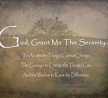 God Grant Me The Serenity Nature Scene by Adri Turner