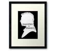 han is coming Framed Print