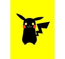Black Pikachu Photographic Print
